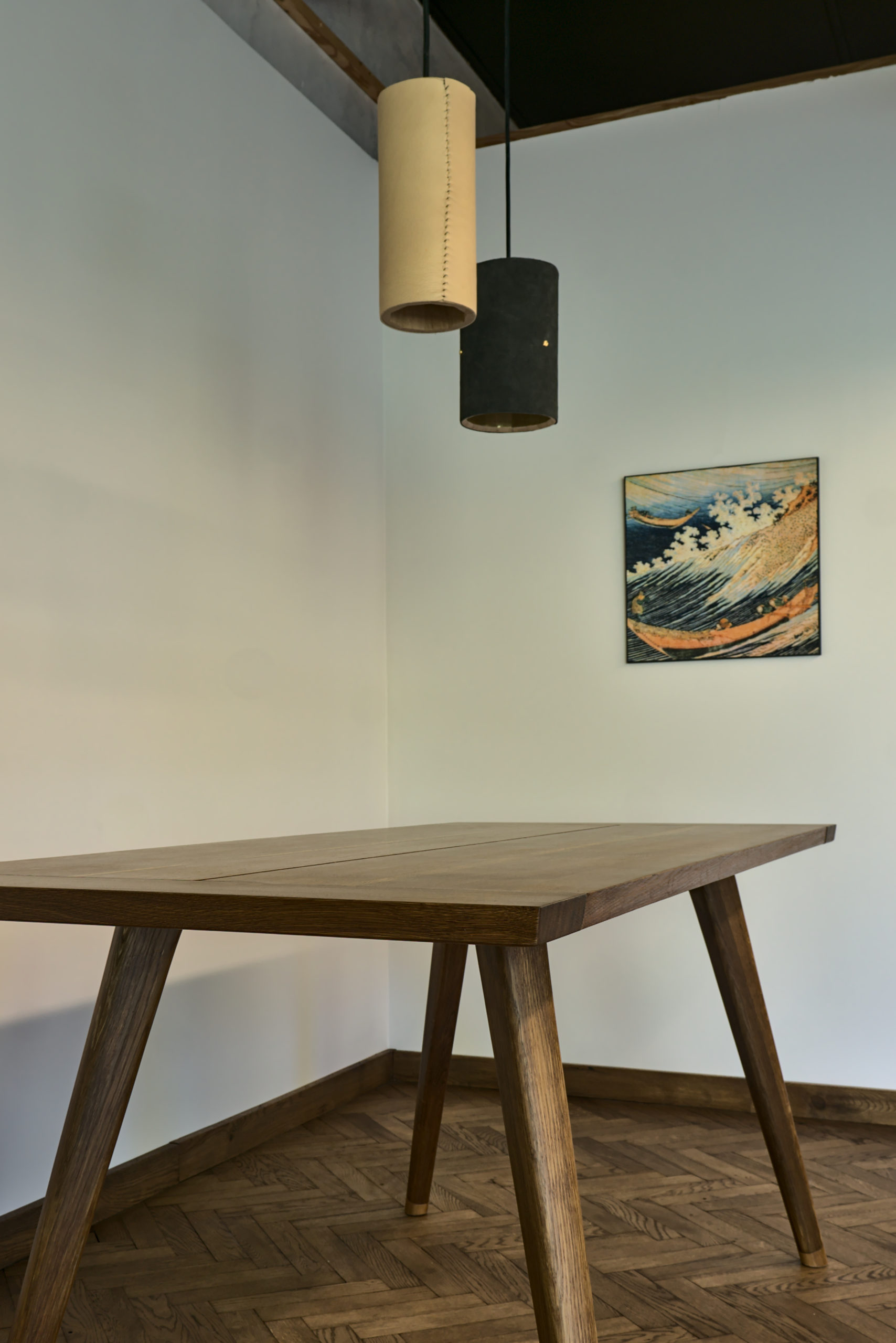 stol debowy wedzony