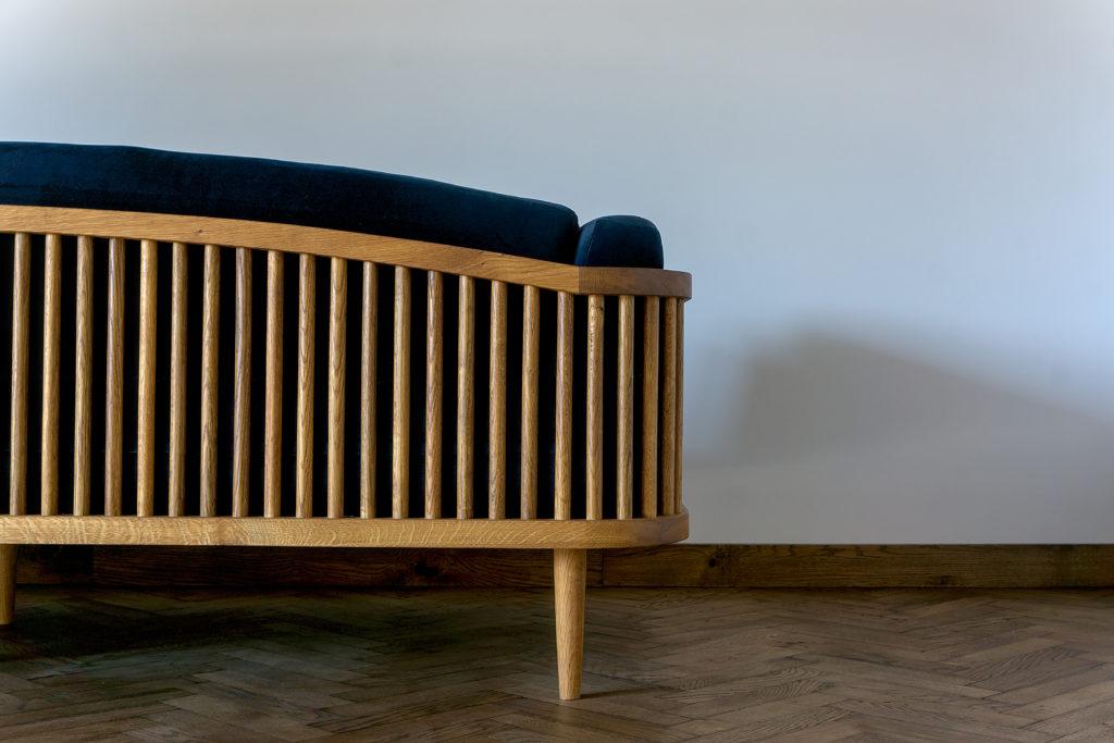 sofa drewniana dab wedzony